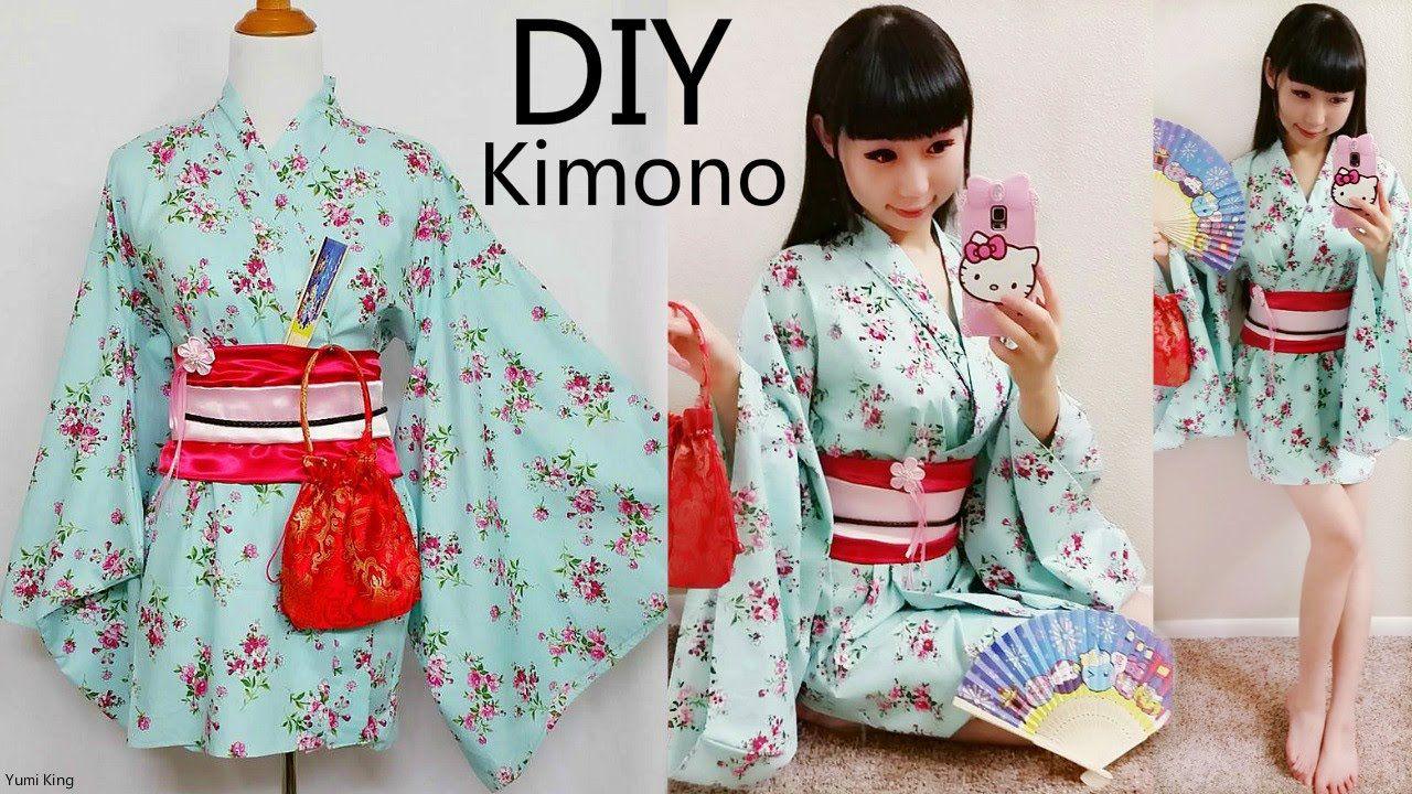 DIY How to Make Easy Kimono/Yukata with Easy Pattern | DIY Cosplay ...