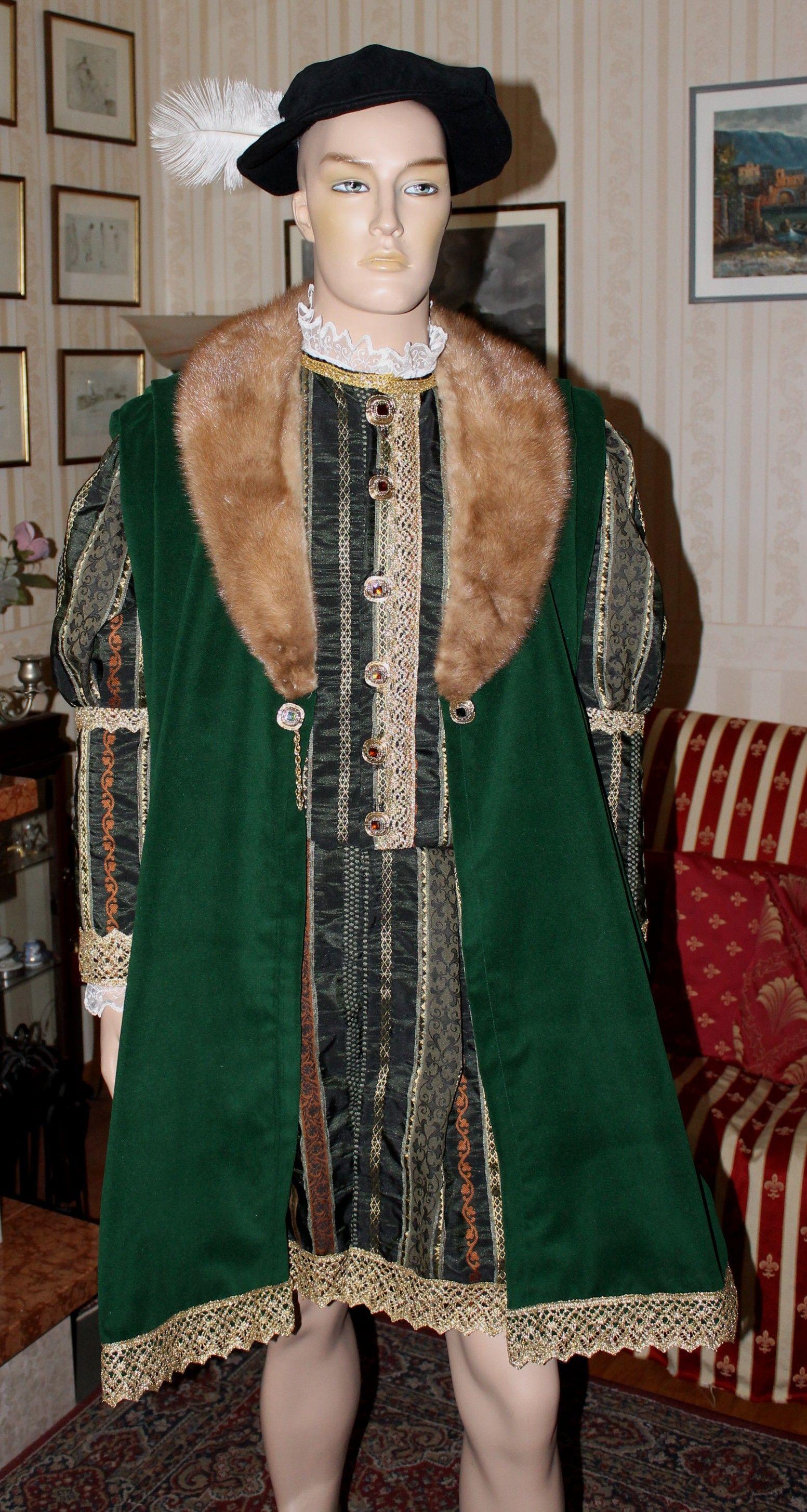 72708f259bef ABITI STORICI MASCHILI 1500 INGLESE Abito Costume storico maschile prima  metà 1500 inglese