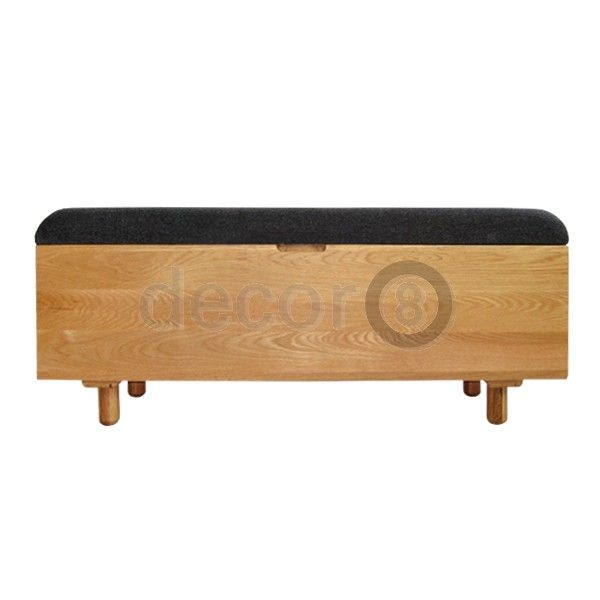 Decor8 Modern Furniture Kendall Solid Wood Upholstered Storage Bench    Functional, Modern Wood Bench,