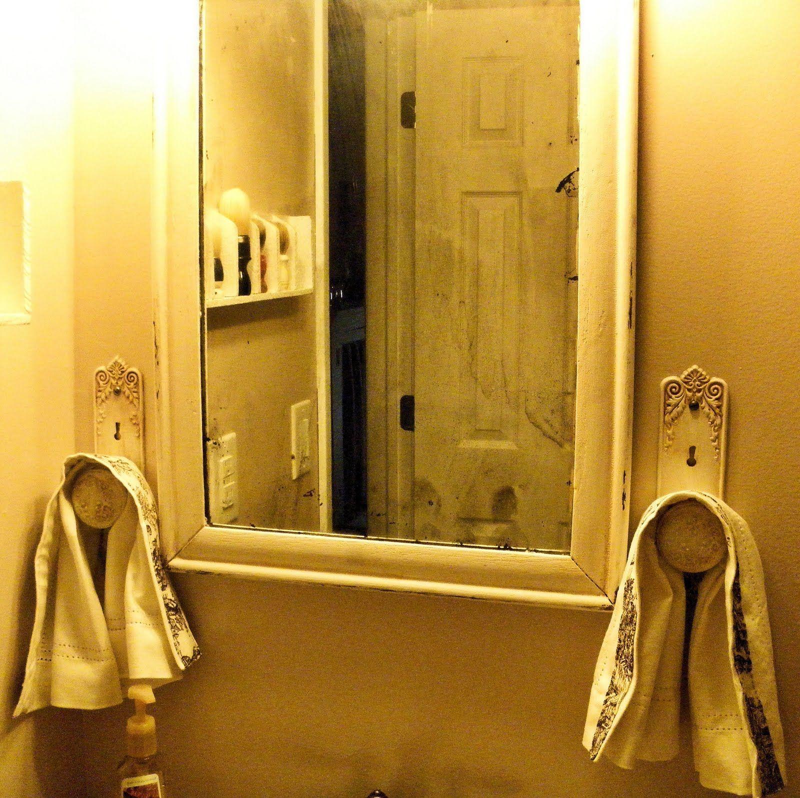 vintage door knobs as towel holders? come on!