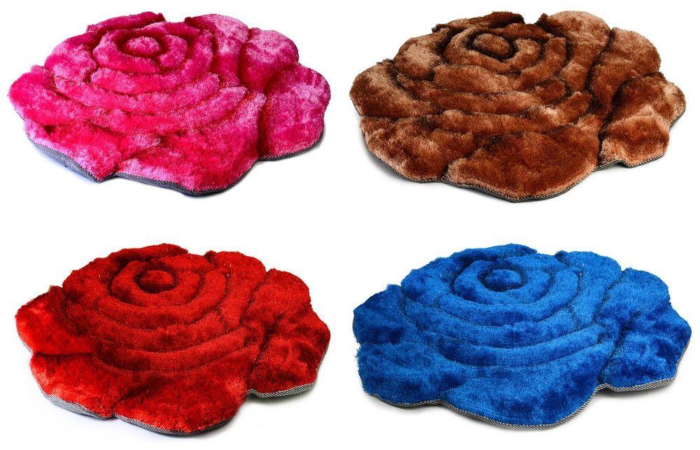 Hmmmm 55 Inc S H Round Gy Rose Shaped Area Rug Carpet Floor Mat Bedroom Bathroom Home