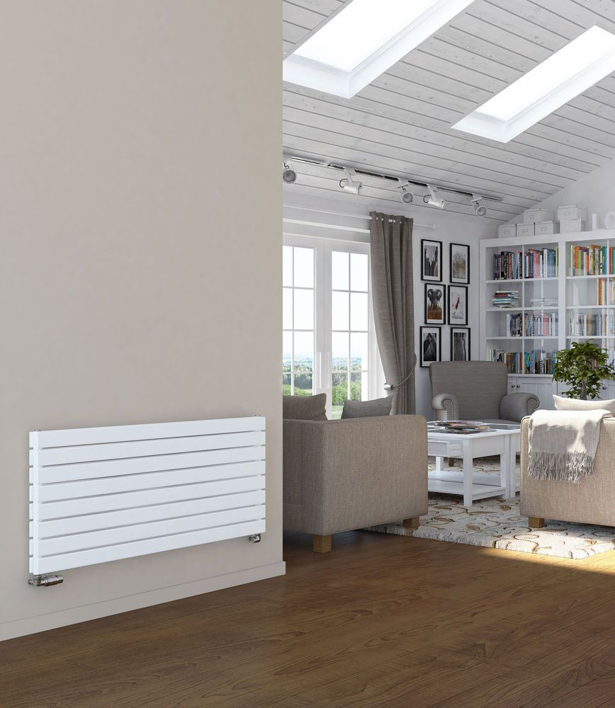 Designer Radiator Horizontal | Wide Flat Panel Radiators | White |  Anthracite