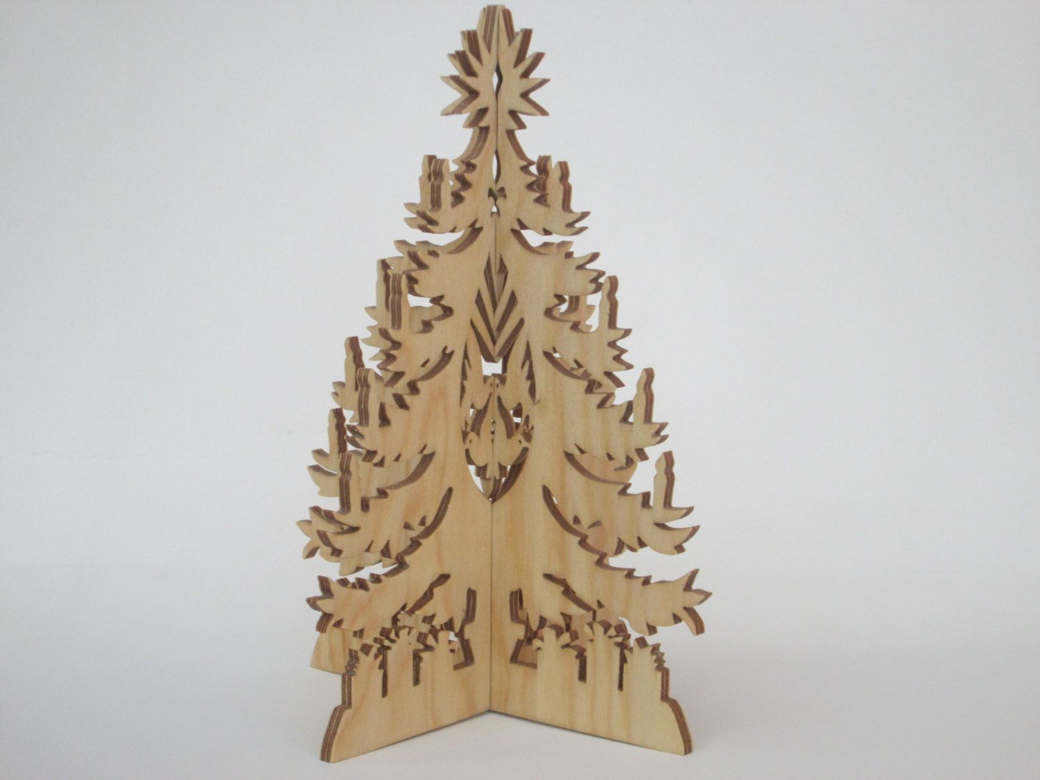 Gorgeous 3D Christmas Tree - Scroll saw cut - Christmas decoration by ScrollOnDesigns on Etsy