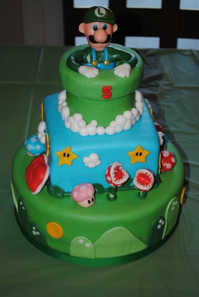 Peachy Luigi Cake I Made By Far My Favorite Luigi Cake Celebration Funny Birthday Cards Online Unhofree Goldxyz