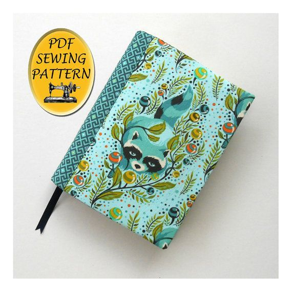 Notebook cover sewing pattern, with free book cover tutorial for any ...