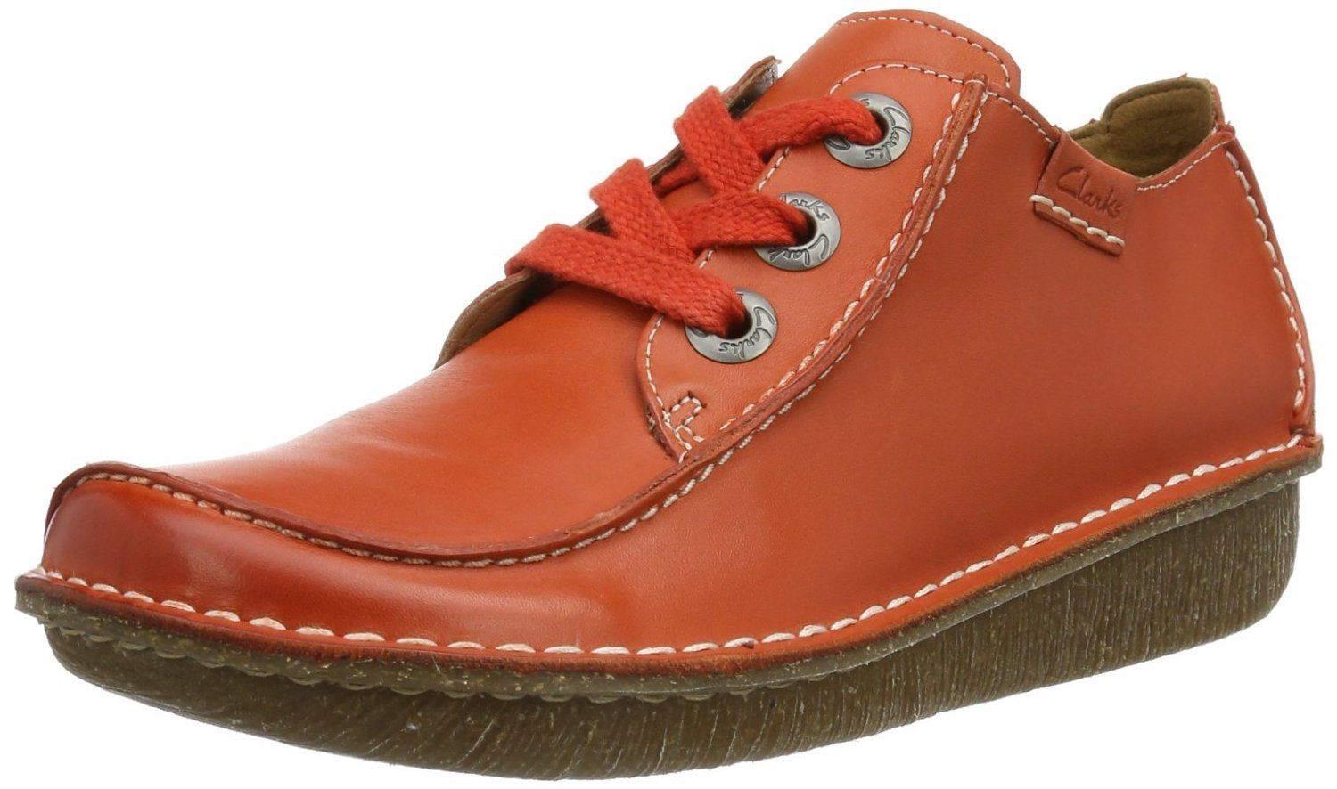 026743c21e8ee Clarks Womens Funny Dream Orange Leather: Amazon.co.uk: Shoes & Bags ...