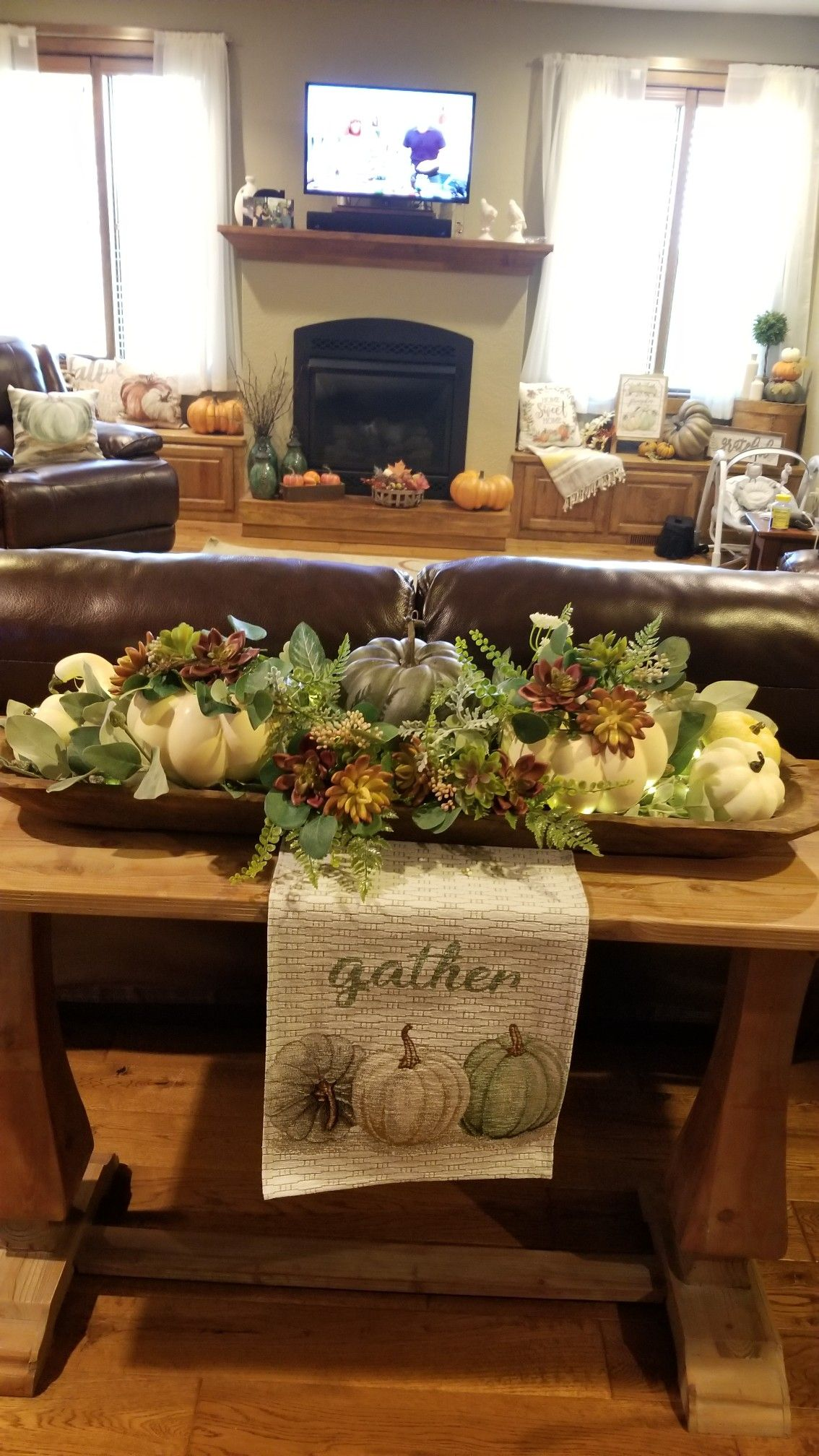 wood dough bowl decor fall table centerpieces fall on favorite diy fall decorating ideas add life to your home id=23380