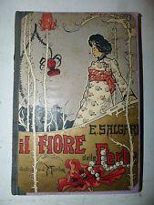 Emilio Salgari: IL FIORE DELLE PERLE 1943 Vallardi romanzo avventura illustrato