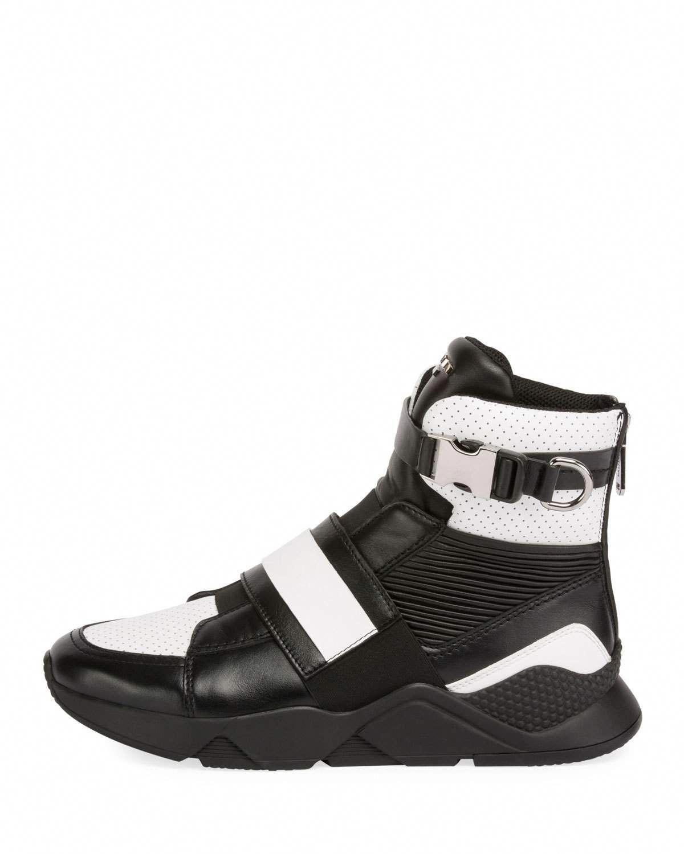 1d9d6ff0f77 Balmain Men's High-Top Sneakers with Contrast Leather Trim #hightopsneakers