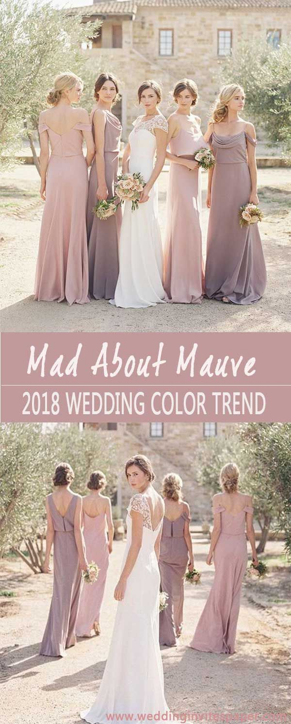 2018 stylish prettiest wedding color trend shade of mauve 2018 stylish prettiest wedding color trend shade of mauve wedding invites paper mauve wedding dress rustic wedding gown fall wedding color ombrellifo Image collections