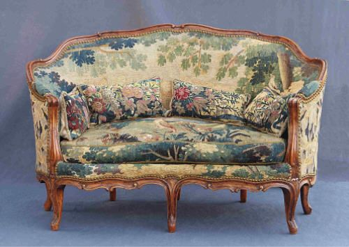 rokoko sofa canap corbeille frankreich um 1760 nussbaum johannes k ssler hochwertige. Black Bedroom Furniture Sets. Home Design Ideas