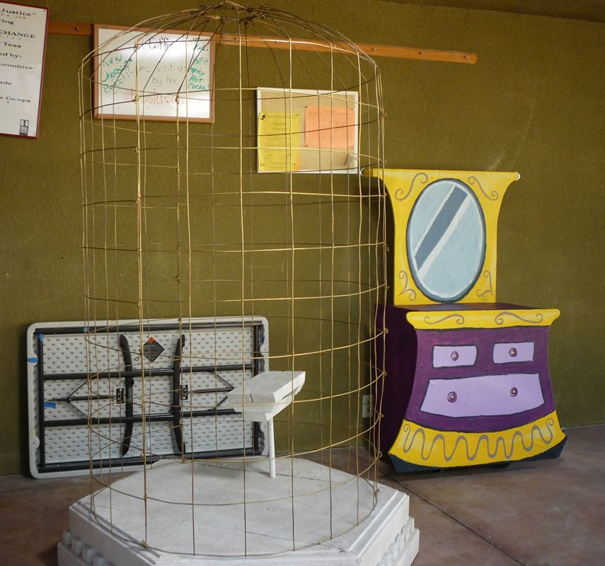The vanity and the bird cage from once upon a mattress Once upon a mattress set design plans