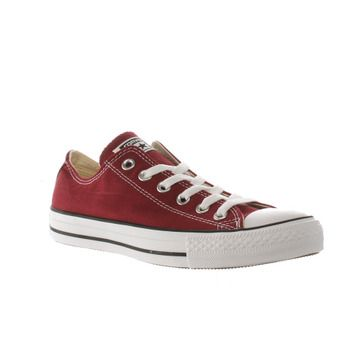 e5f19a21f6d70d Women s Burgundy Converse All Star Oxford Trainers