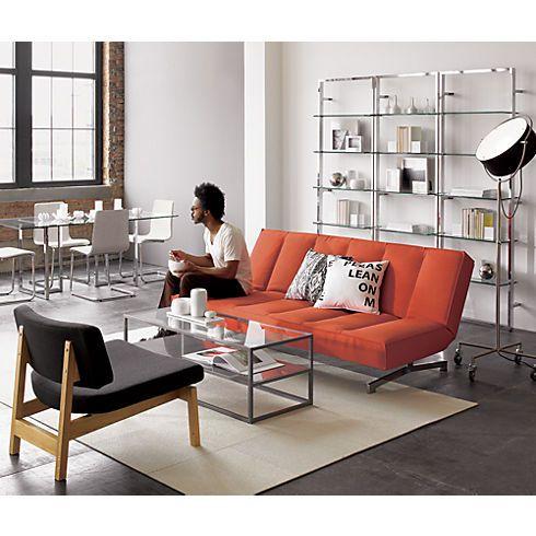 Flex Orange Sleeper Sofa In All Furniture Cb2 Interior Inspiration Pinterest Sofas Apartments And Bath