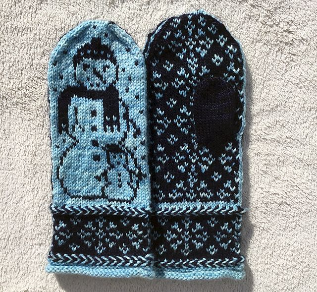 Ravelry: Snowman Mittens pattern by Erica Mount | 1Stranded & Fair ...