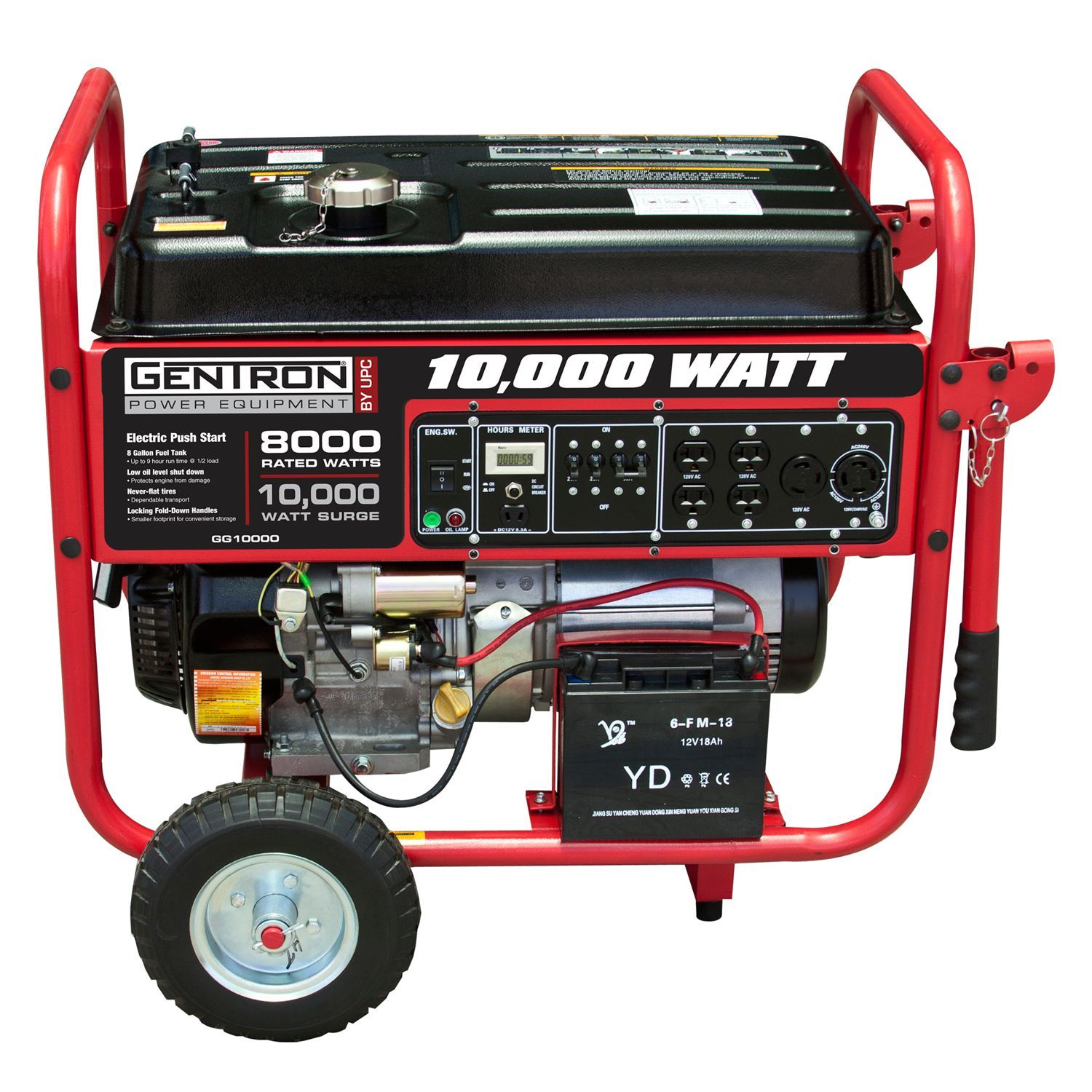 Gentron 8 000W 10 000W Portable Gas Powered Generator with