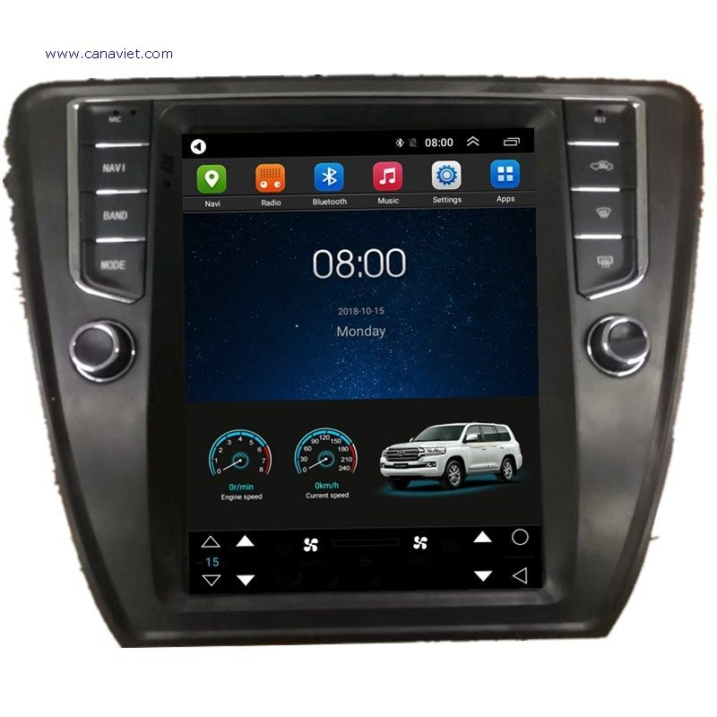 Tesla Vertical Screen Android Car Multimedia Stereo Radio Audio