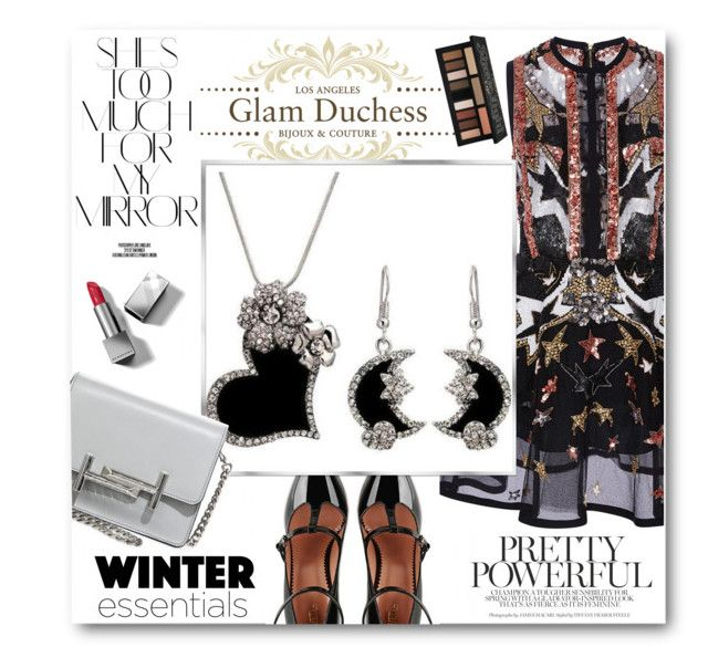 """Glam Duchess"" by glamduchess ❤ liked on Polyvore featuring Elie Saab, RED Valentino, Tod's, Rika, Burberry and Kat Von D"