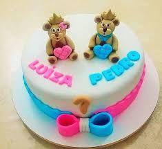 Resultado de imagem para bolos infantil em pasta para bebe menino