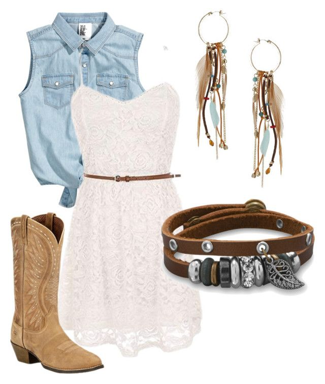 Country Babe by squidney1027 on Polyvore featuring polyvore, fashion, style, Ariat, BillyTheTree, Topshop, country and clothing