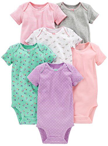 Simple Joys by Carters Baby Girls 6-Pack Sleeveless Bodysuit