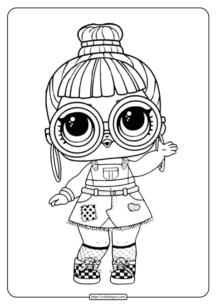 Lol Surprise Coloring Page Block Party Bb High Quality Free Printable Coloring Drawing Paintin In 2020 Unicorn Coloring Pages Coloring Pages Birthday Coloring Pages