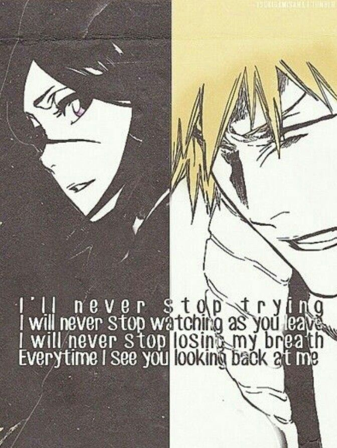 Bleach Quote Rukia And Ichigo IchiRuki Bleach Ichigo Rukia Best Ichigo Quotes