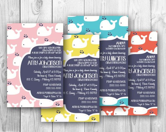 Modern whale baby shower invitation multiple color choices oh modern whale baby shower invitation multiple color choices oh happiness stationery stopboris Image collections