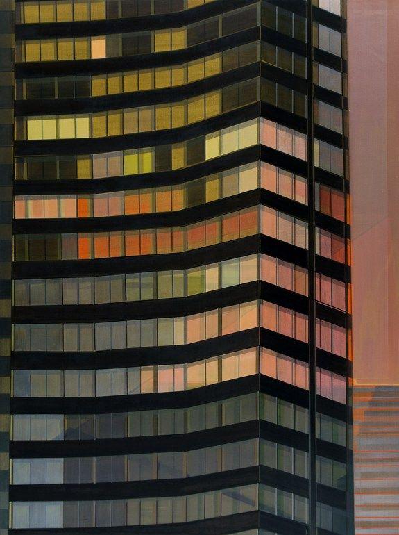 CECILE VAN HANJA  Building by Night (2008)