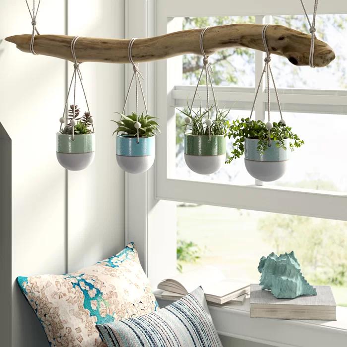 Kannon Matte Glaze Stoneware Hanging Planter