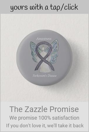 Parkinson S Disease Awareness Ribbon Angel Art Pin Zazzle Com In 2020 Parkinsons Disease Awareness Disease Awareness Parkinsons Disease