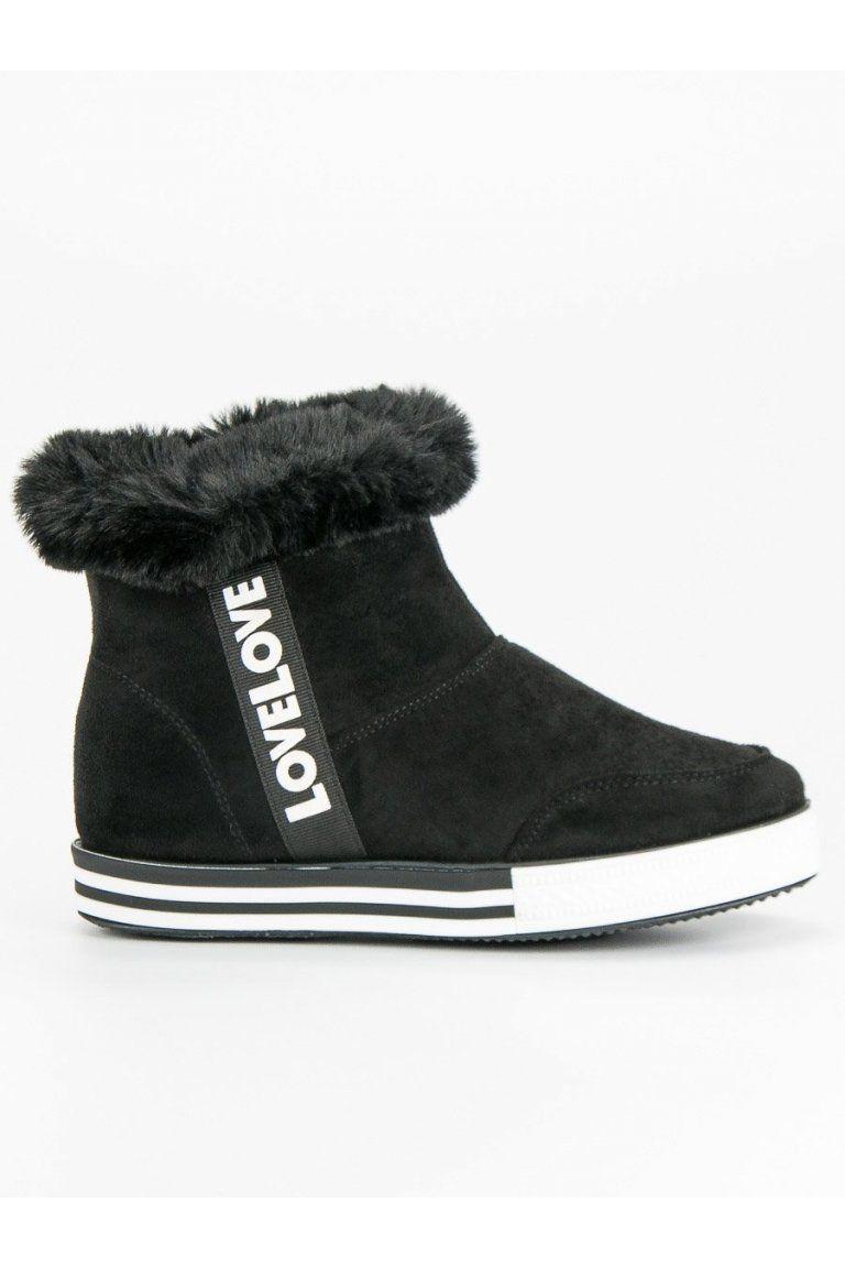 123102ee2c8f1 Čierne zateplené tenisky Ideal Shoes | Členkové tenisky - NAJ.SK ...