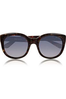 Saint Laurent D-frame acetate sunglasses   THE OUTNET