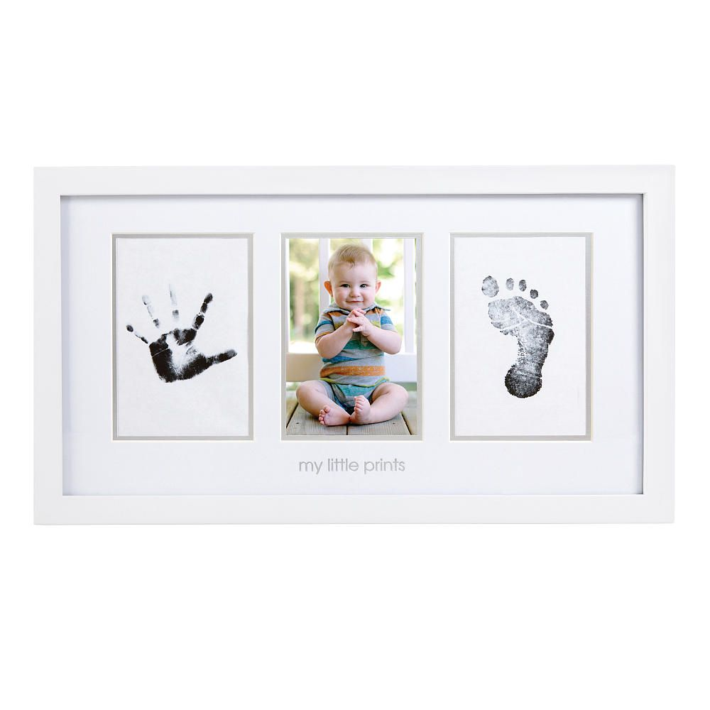 Pearhead babyprints photo frame white pearhead babies r us explore baby prints wood frames and more jeuxipadfo Images