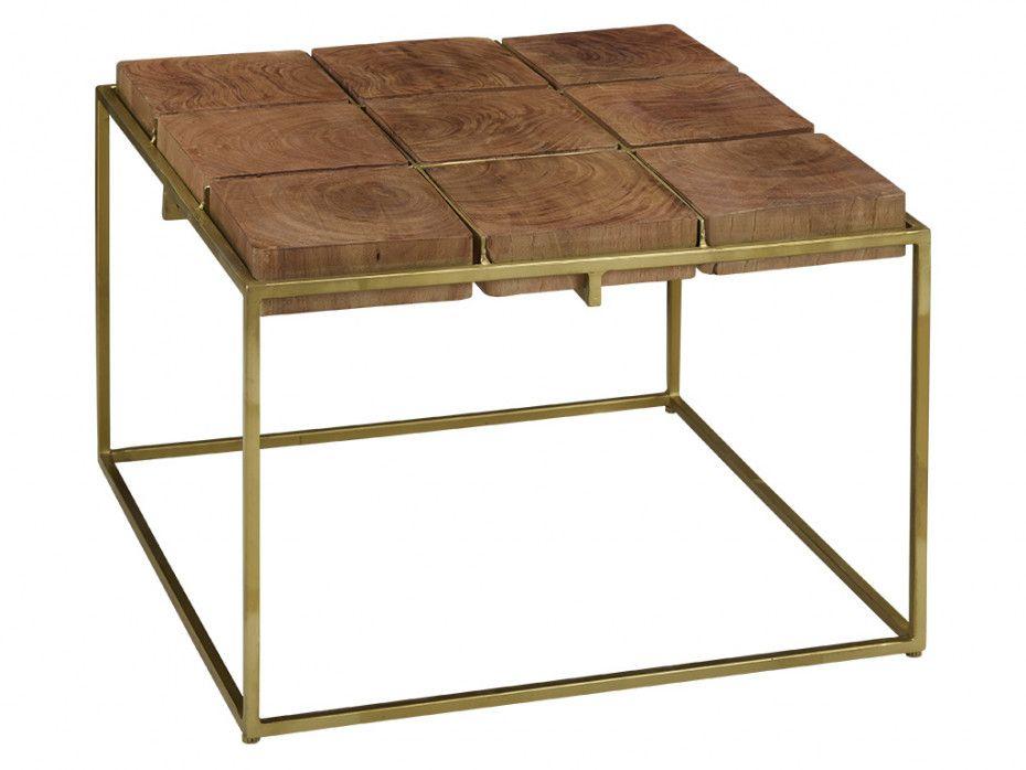 Table Basse Aristee Bois Exotique Metal Table Basse Bois Exotique