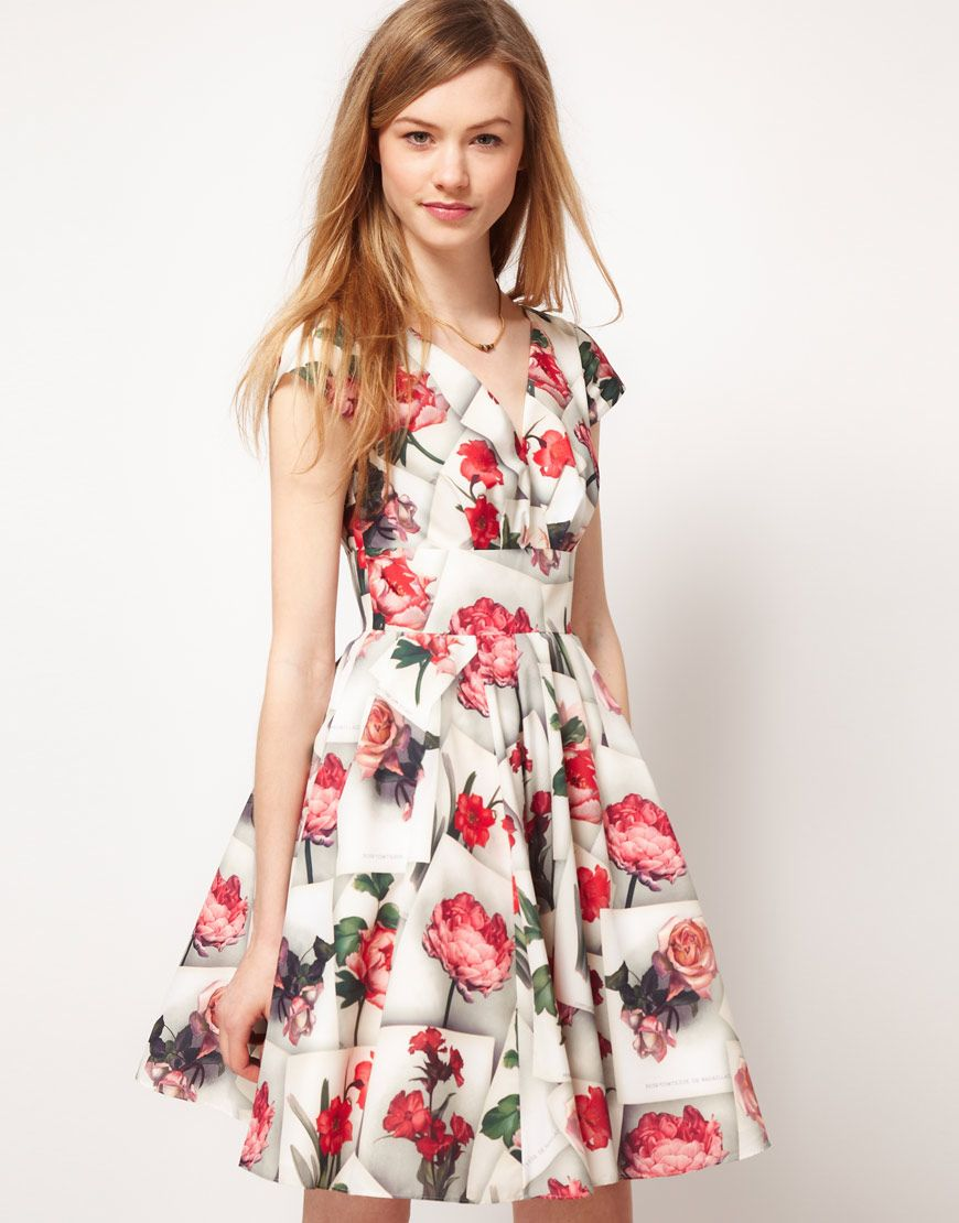 Ted Baker pretty rose pattern dress.