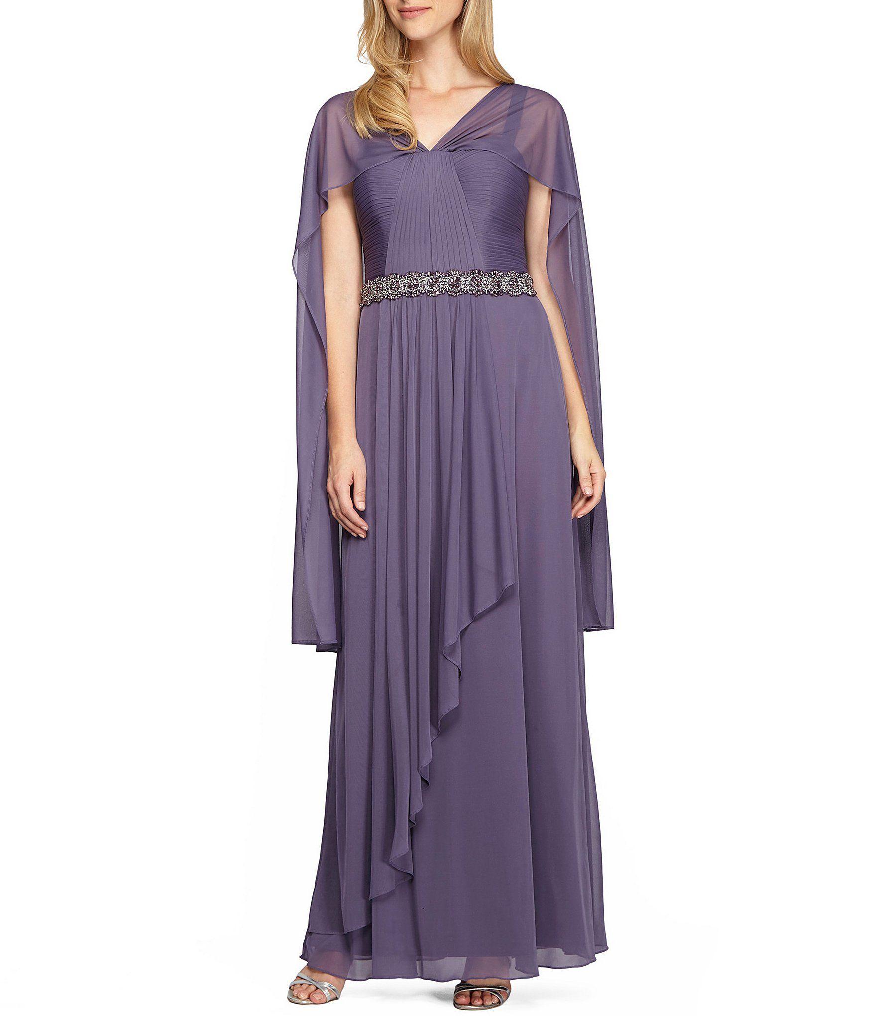 Shop for Alex Evenings Bead-Detail Capelet Gown at Dillards.com ...