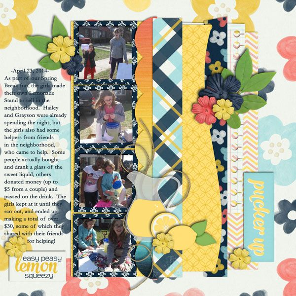 Digital Scrapbook Template - CU Recyclables 32 | Scrapping with Liz