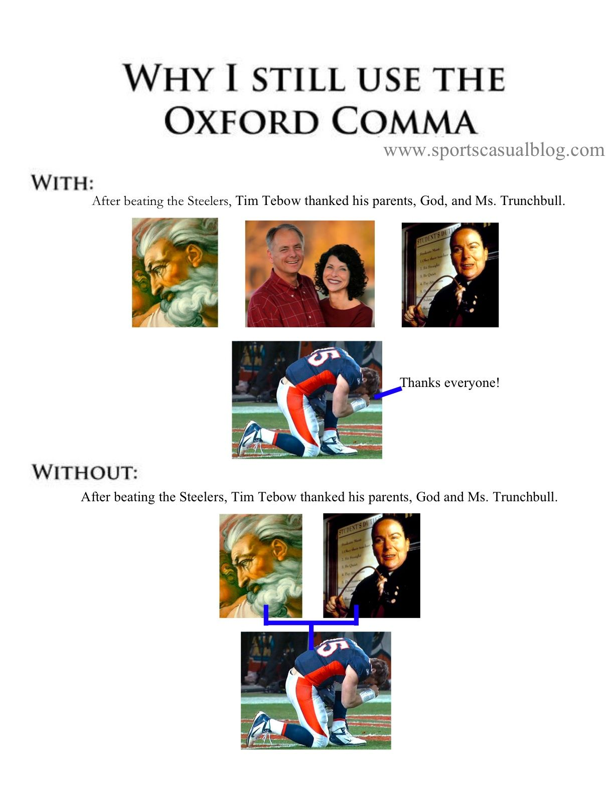 Oxford comma online dating