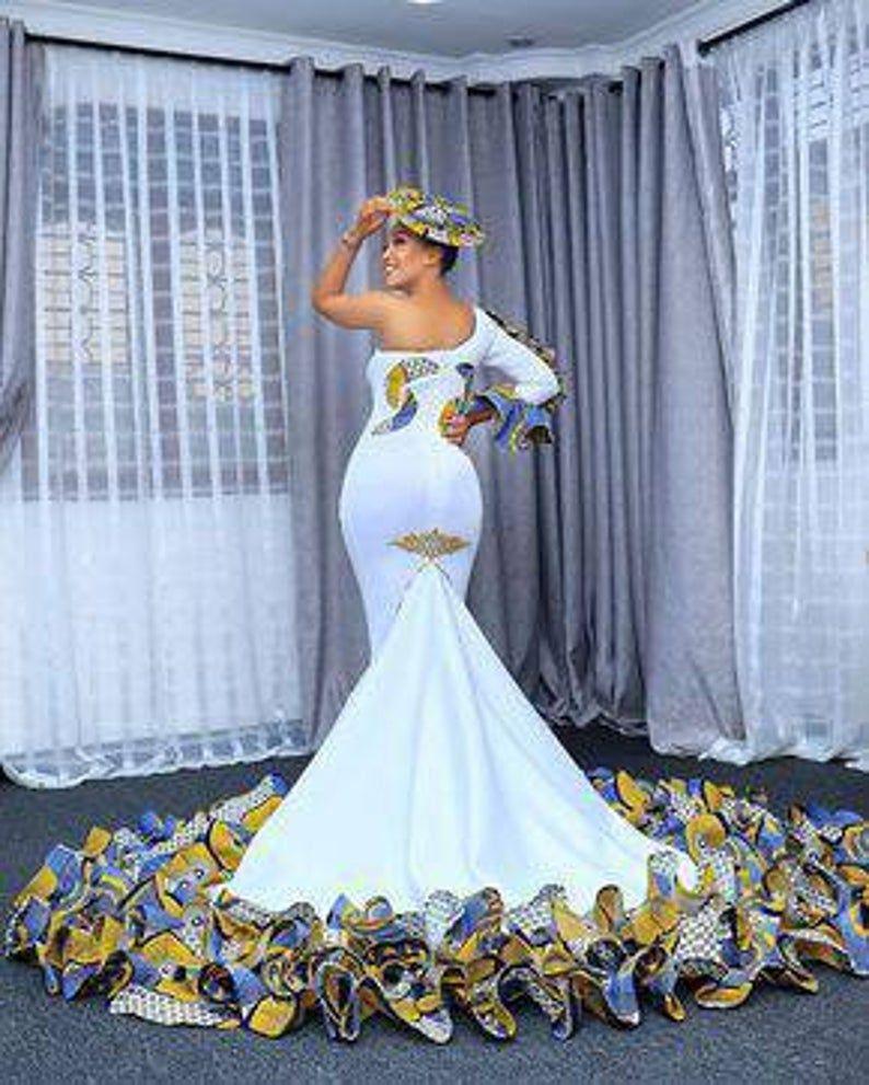 African Bridal Dress Ankara Wedding Dress African Wedding Etsy In 2020 African Bridal Dress African Print Wedding Dress African Wedding Attire