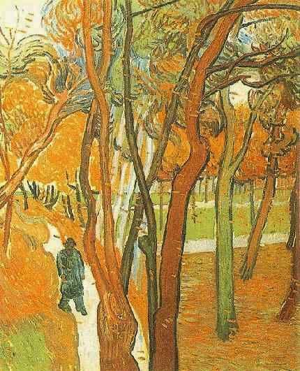 Vincent van Gogh: The Walk: Falling Leaves. Oil on canvas. Saint-Remy: October, 1889. Amsterdam: Van Gogh Museum.