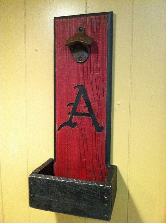 Good for a game room or man cave! Arkansas Razorbacks bottle opener ...