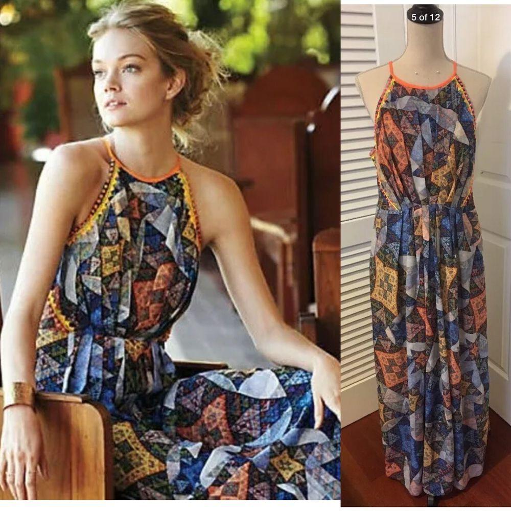 f461f16af2c0 ANTHROPOLOGIE Ranna Gill Condesa Maxi Boho Dress Size XL | eBay