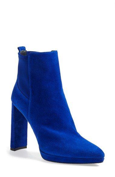 de64adbe5581 Free shipping and returns on Stuart Weitzman  Souffle  Almond Toe Bootie ( Women) at Nordstrom.com. A modern half-moon heel and slender platform lift  this ...