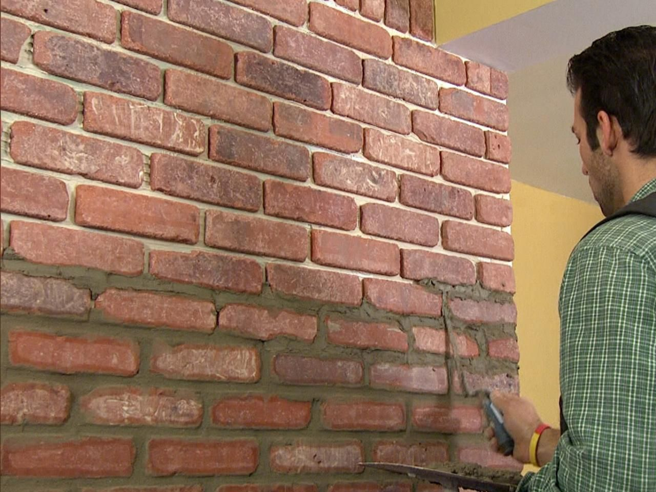 Create An Eye Catching Brick Veneer Accent Wall With These Step By