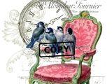 Bügelbilder - Vintage Bügelbild Shabby Rose Vogelkäfig A4 NO. 1 - ein Designerstück von Doreens-Bastelstube bei DaWanda