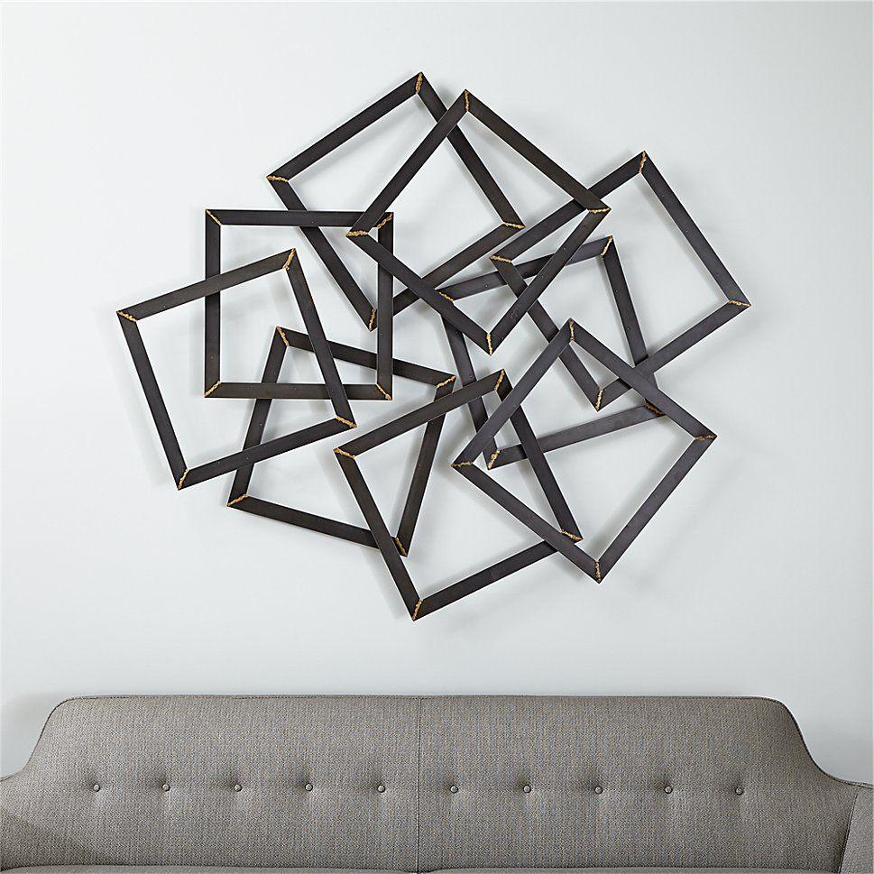 Shop Multi Squares Metal Wall Decor Raw Steel Square Frames