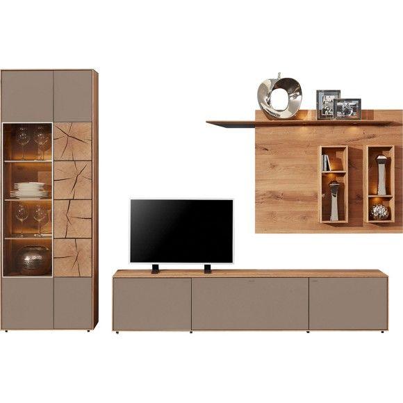 Diese Vollmassive Wohnwand Bringt Die Einzigartige Schonheit Von Echtholz In Ihr Wohnen Wohnwand Wand