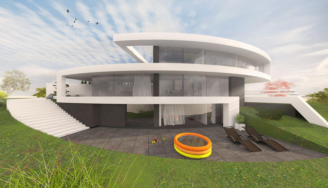 Wohnhaus Bauen runde häuser bauen in moderner architektur wohnhaus runde und
