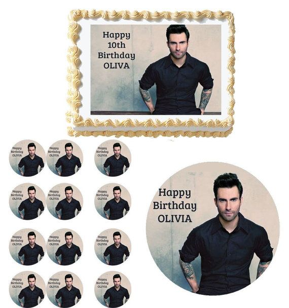 Adam Levine Edible Birthday Party  Cake & by Caketoppercottage